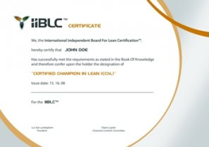 Champion in Lean certificate